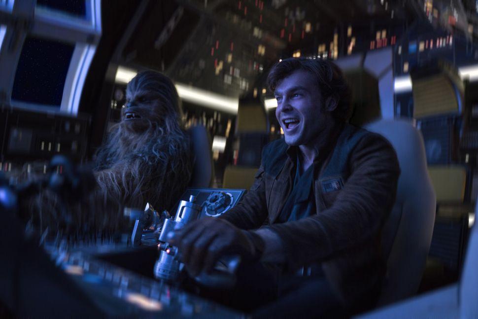 """Joonas Suotamo andAlden Ehrenreich in """"Solo: A Star Wars Story."""""""