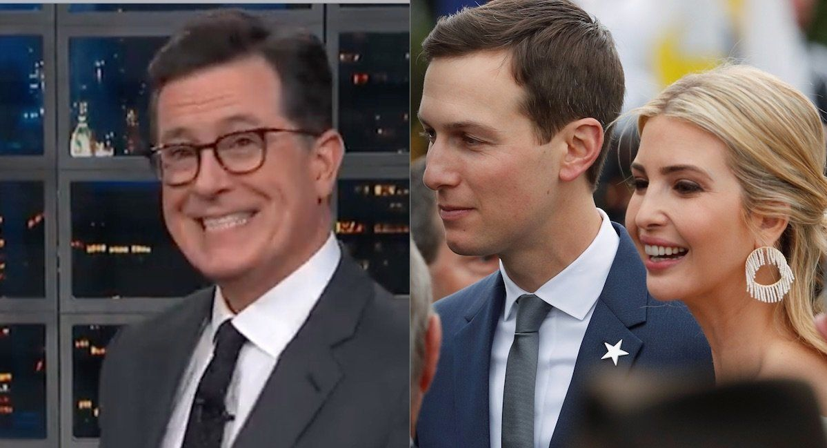 Stephen Colbert Jared Kusher Ivanka Trump