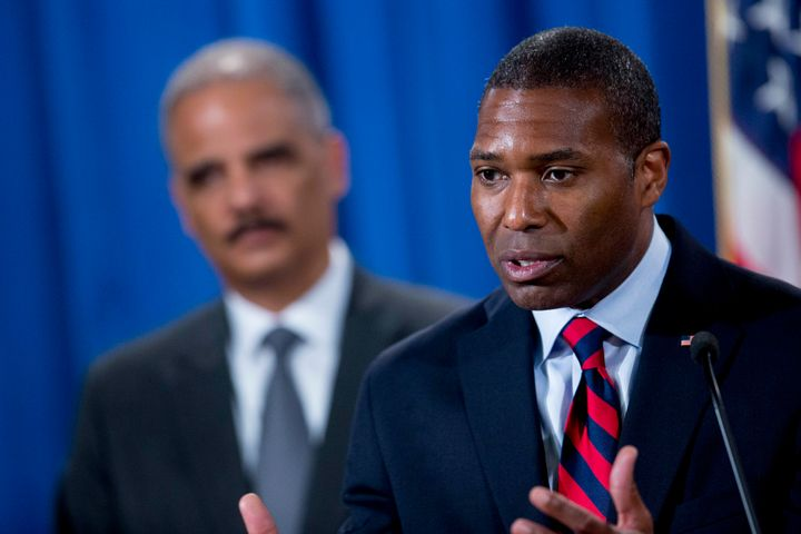 Tony West, now Uber's chief legal officer, back in 2014 when he worked in the Justice Department under Eric Holder.