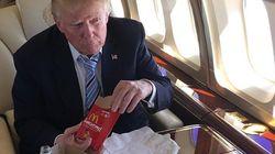트럼프가 '건강을 위해' 햄버거 주문 방법을 살짝
