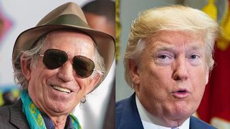 Keith Richards Donald Trump