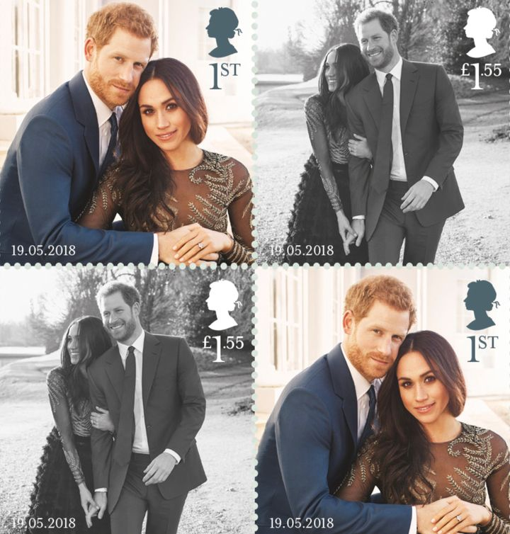 The U.K.'s Royal Mail is commemorating Saturday's royal wedding between Prince Harry and Meghan Markle with a set of postage