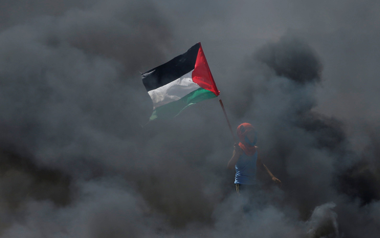 Les Palestiniens marchent au nom du droit au retour, au lendemain d'une journée