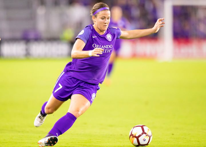 Orlando Pride midfielder Christine Nairn looks to shoot the ball during a match in April. If you limit yourself to just men's