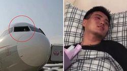 Als das Cockpit–Fenster im Flug zerbricht, merkt der Pilot, wie wichtig sein Sicherheitsgurt