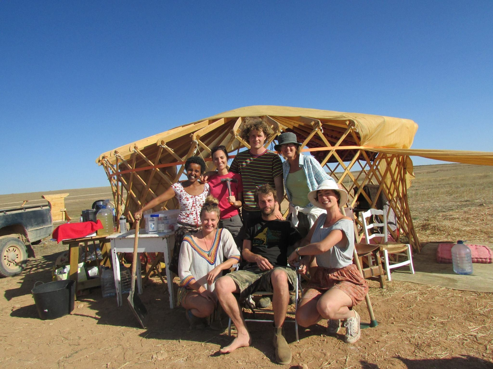 A group of volunteers at Camp Altiplano.