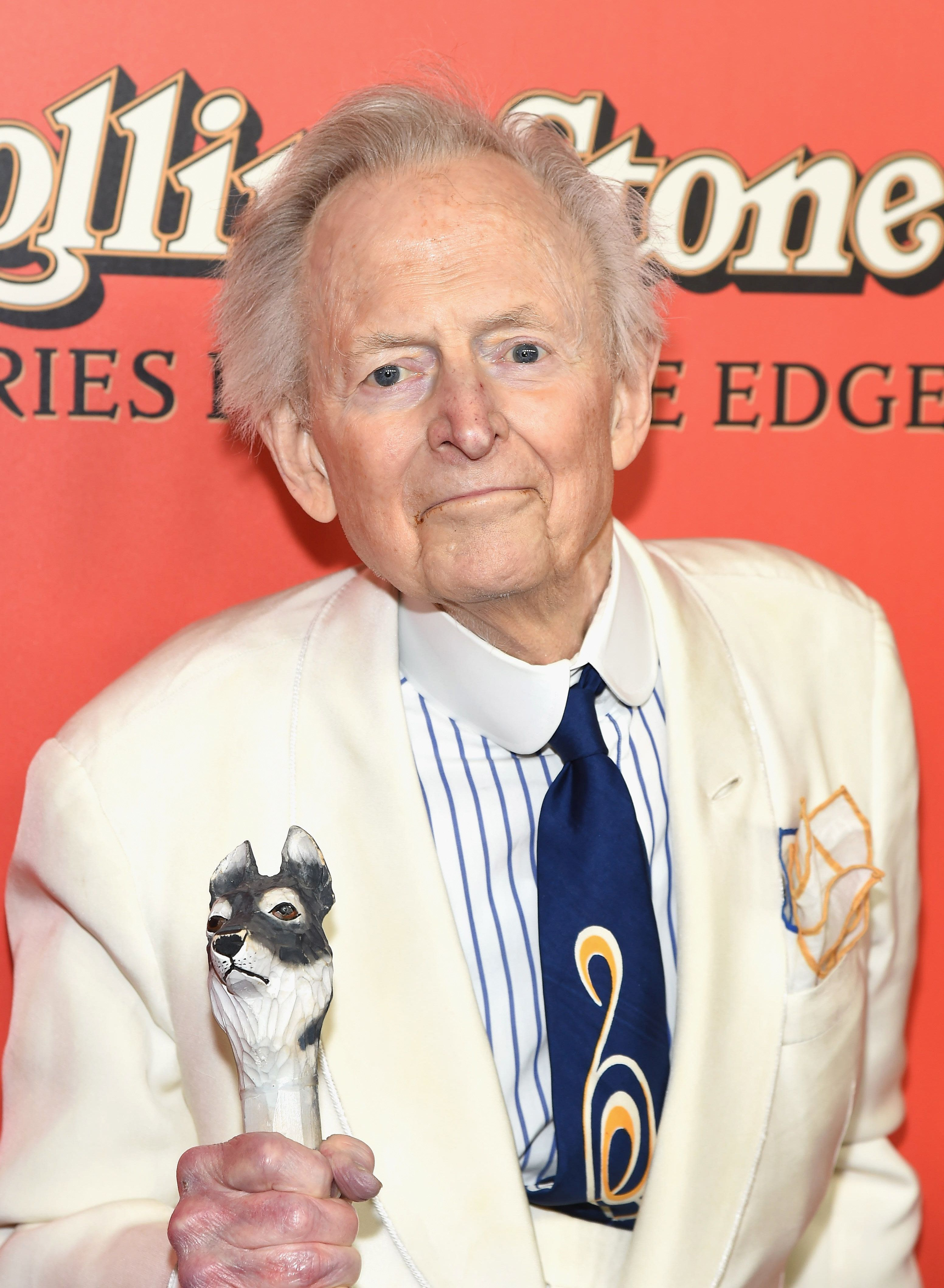 NEW YORK, NY - OCTOBER 30: Author Tom Wolfe attends 'Rolling Stone Stories From The Edge' world premiere at Florence Gould Hall on October 30, 2017 in New York City.  (Photo by Gary Gershoff/WireImage)