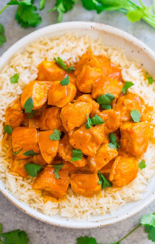 """<strong>Get the <a href=""""https://www.averiecooks.com/indian-butter-chicken/"""" target=""""_blank"""">Indian Butter Chicken</a> recipe"""