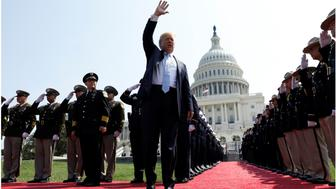 U.S. President Donald Trump arrives to give remarks at the 37th Annual National Peace Officers' Memorial Service  at the U.S. Capitol in Washington, U.S., May 15, 2018. REUTERS/Kevin Lamarque