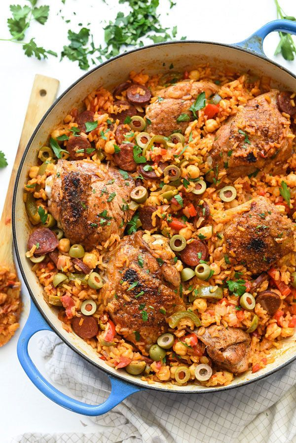 """<strong>Get the <a href=""""https://www.foodiecrush.com/spanish-chicken-and-rice-recipe/"""" target=""""_blank"""">Spanish Chicken and Ri"""