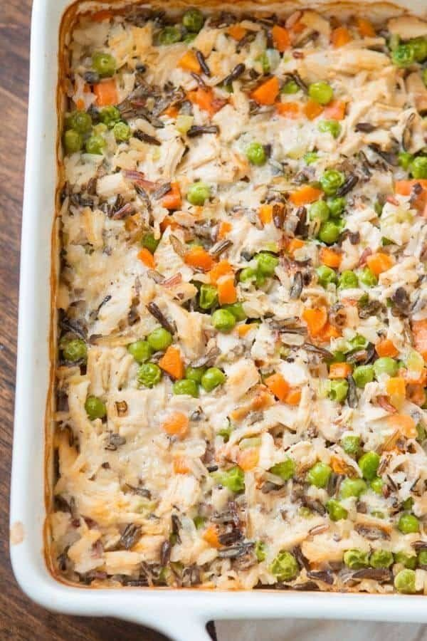 """<strong>Get the <a href=""""https://ohsweetbasil.com/copycat-miltons-creamy-chicken-white-wild-rice-casserole-recipe/"""" target=""""_"""