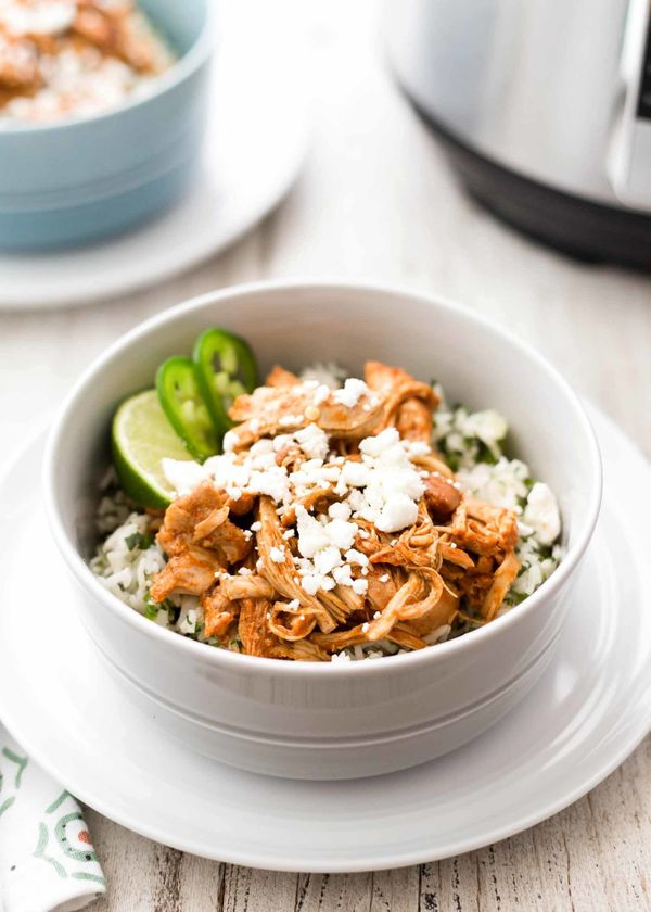 """<strong>Get the <a href=""""https://www.simplyrecipes.com/recipes/pressure_cooker_chipotle_chicken_and_rice_bowls/"""" target=""""_bla"""
