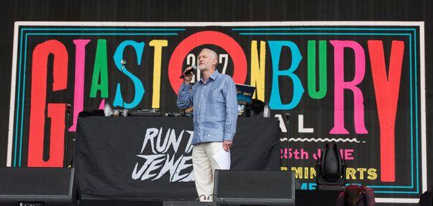 Jeremy Corbyn at the 2017 Glastonbury