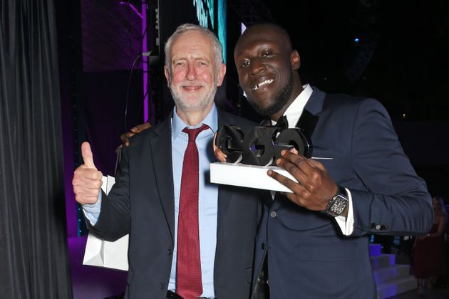 Jeremy Corbyn gets support from Stormzy at the GQ Men of the Year