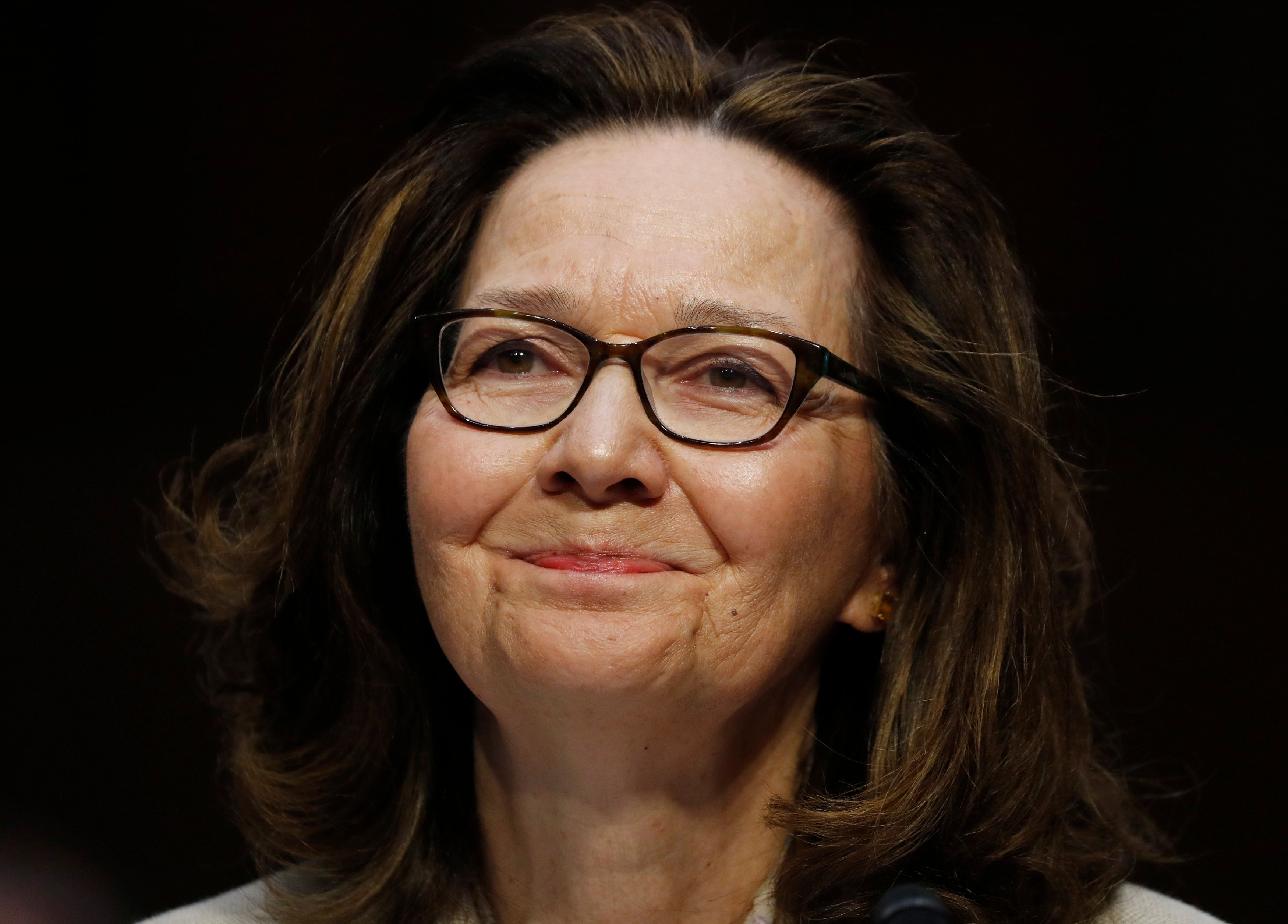 Acting CIA Director Gina Haspel testifies at her Senate Intelligence Committee confirmation hearing on Capitol Hill in Washington, U.S., May 9, 2018. REUTERS/Kevin Lamarque