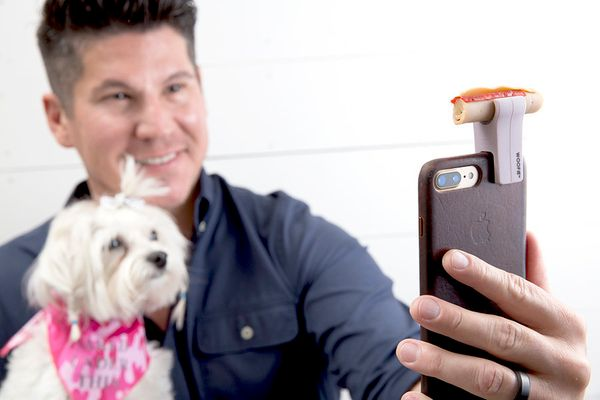 "Dog-loving dads know how difficult it is to get a dog to pose for a selfie. Make things easier for him with the <a href=""http"