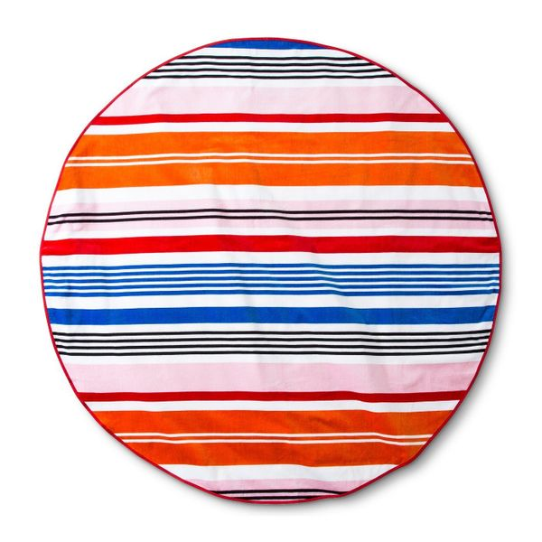 "Get it on <a href=""https://www.target.com/p/beach-towel-60-round-sneaky-blue/-/A-53113920"" target=""_blank"">Target</a>, $20.&n"