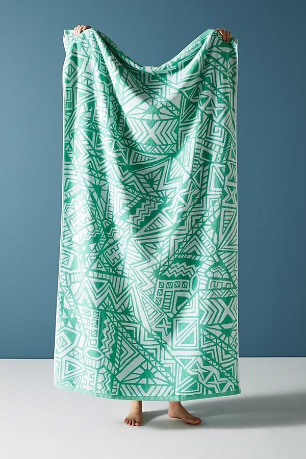 "Get it on <a href=""https://www.anthropologie.com/shop/mixed-geo-beach-towel?category=swimwear-beach-towels&color=045"" tar"