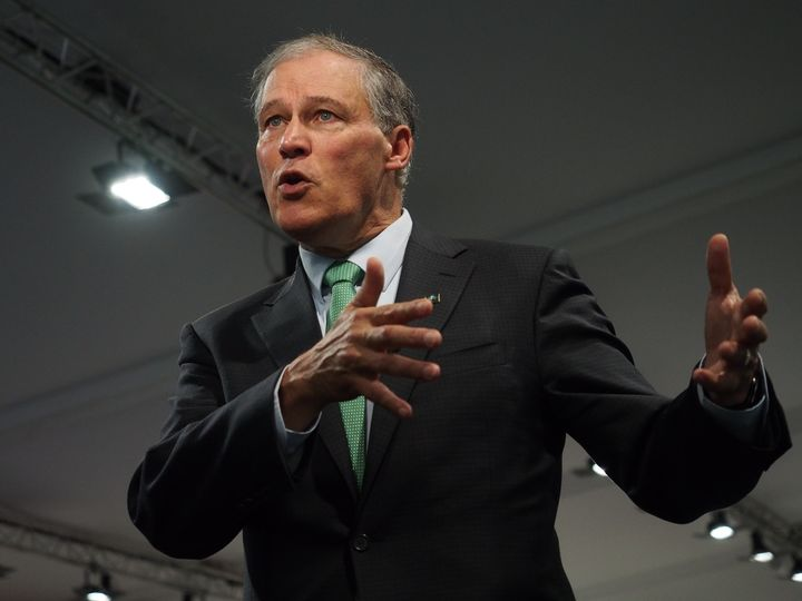 Washington Gov. Jay Inslee (D), pictured, and Washington's secretary of state, Kim Wyman, jointly announced the state would p