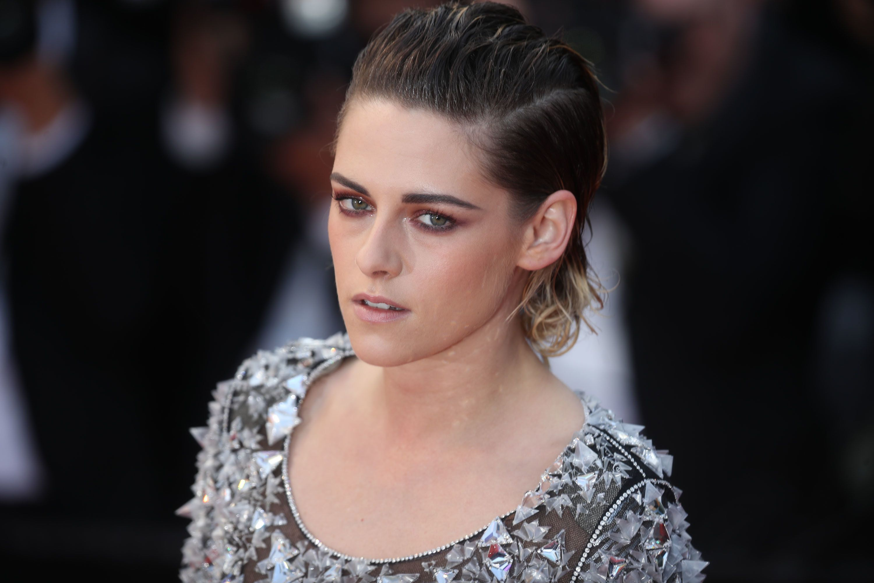 CANNES, FRANCE - MAY 14:  Kristen Stewart attends the screening of 'BlacKkKlansman' during the 71st annual Cannes Film Festival at Palais des Festivals on May 14, 2018 in Cannes, France.  (Photo by Mike Marsland/Mike Marsland/WireImage)
