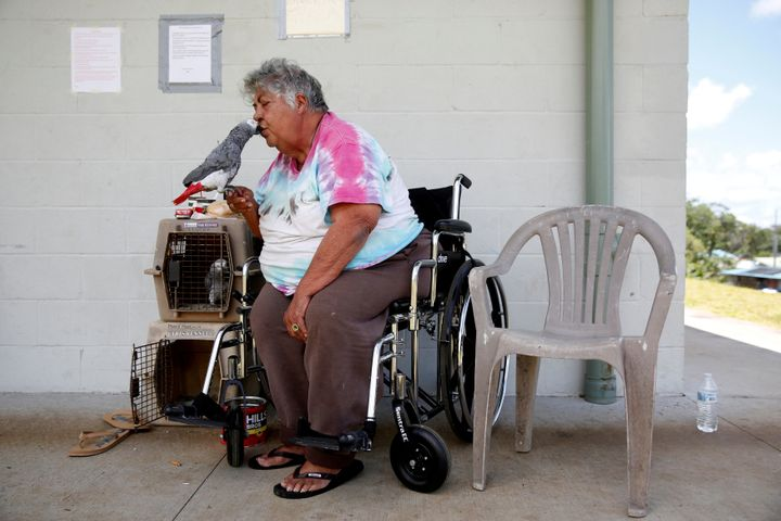 Linda Dee Souza, 72, of Kalapana-Seaview, waited at a Red Cross evacuation center in Pahoa.
