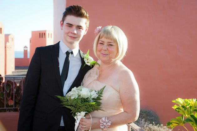Ryan with his mum,