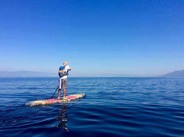 Again, paddling on Lake