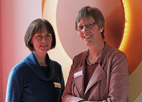 Jutta Rath (links) ist leitende Hebamme im Franziskus-Hospital und arbeitet zusammen mit Elisabeth Frenke,...