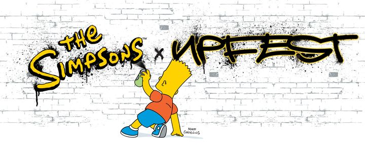 """Upfest is collaborating with """"The Simpsons"""" for this year's live street art festival in Bristol, southwest England."""