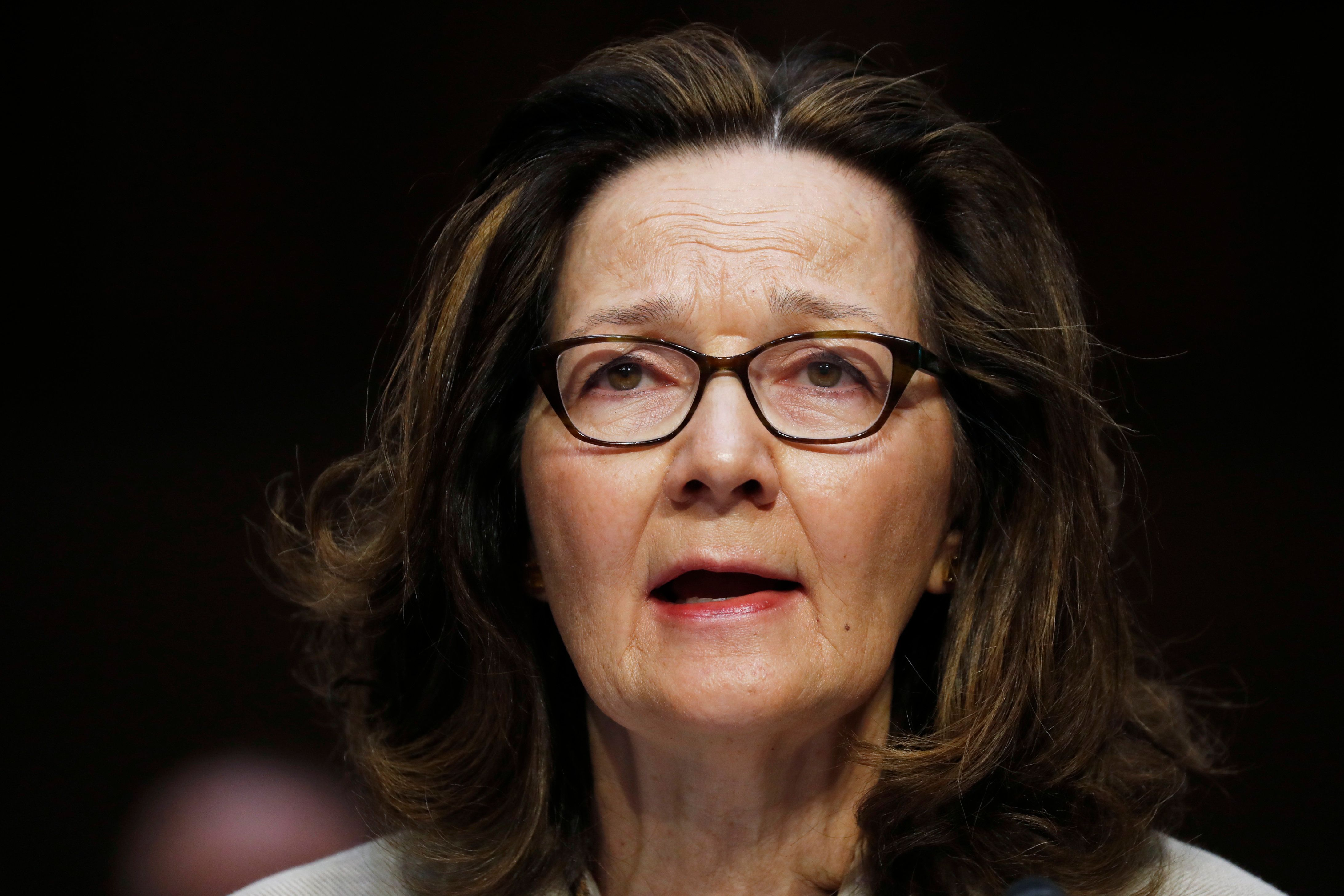 Acting CIA Director Gina Haspel testifies at her Senate Intelligence Committee confirmation hearing on Capitol Hill in Washington, U.S., May 9, 2018.