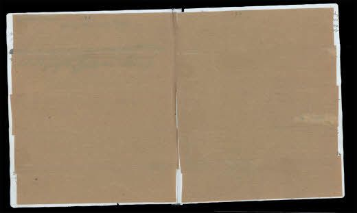 Researchers uncovered a never-before-seen entry by Anne Frank beneath these pages of brown paper....