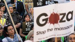 전 세계에서 '가자 국경 팔레스타인인 살해' 항의 시위가
