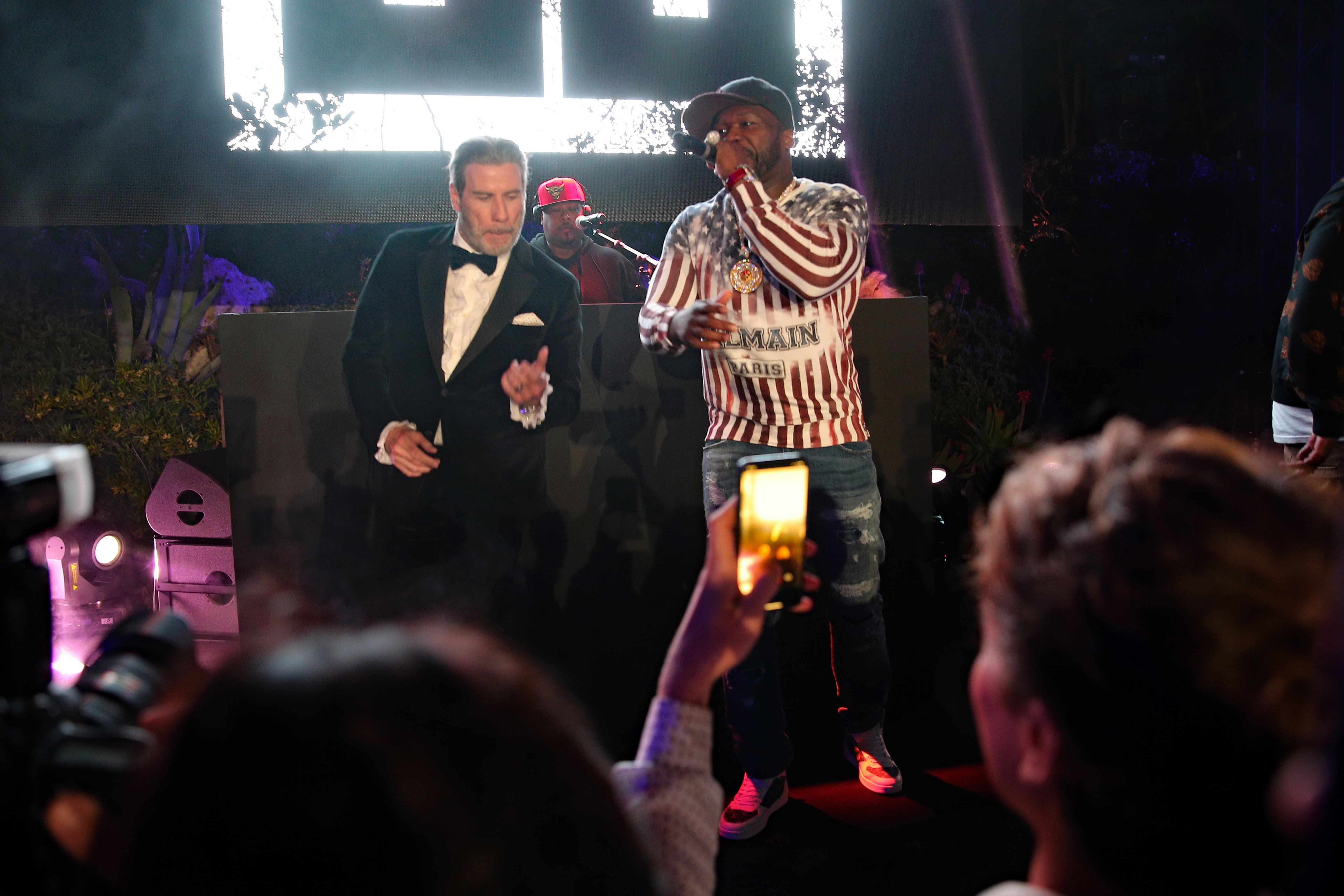 50 Cent Dancing With John Travolta At A Cannes Afterparty Is A Sight To
