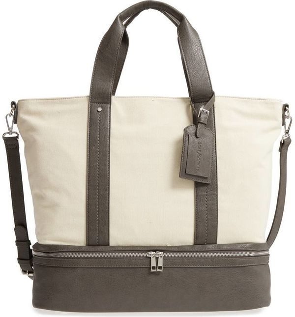 """Get it on <a href=""""https://shop.nordstrom.com/s/sole-society-canvas-overnight-tote/4932063?origin=keywordsearch-personalizeds"""