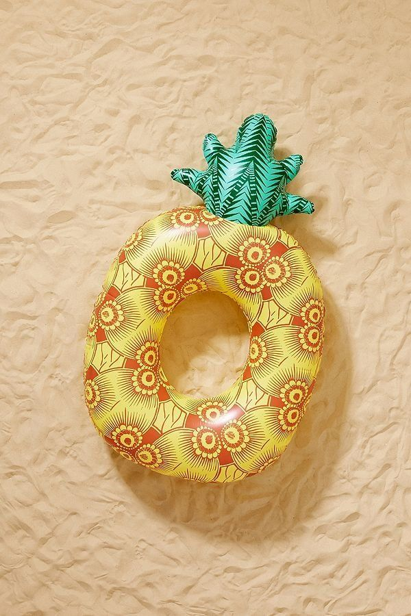 """Get it on <a href=""""https://www.urbanoutfitters.com/shop/yellow-pineapple-pool-float?category=pool-floats&color=072"""" targe"""