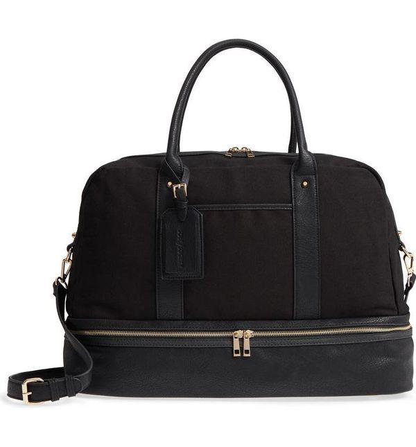"Get it on <a href=""https://shop.nordstrom.com/s/sole-society-faux-leather-weekend-bag/4932111?origin=keywordsearch-personaliz"