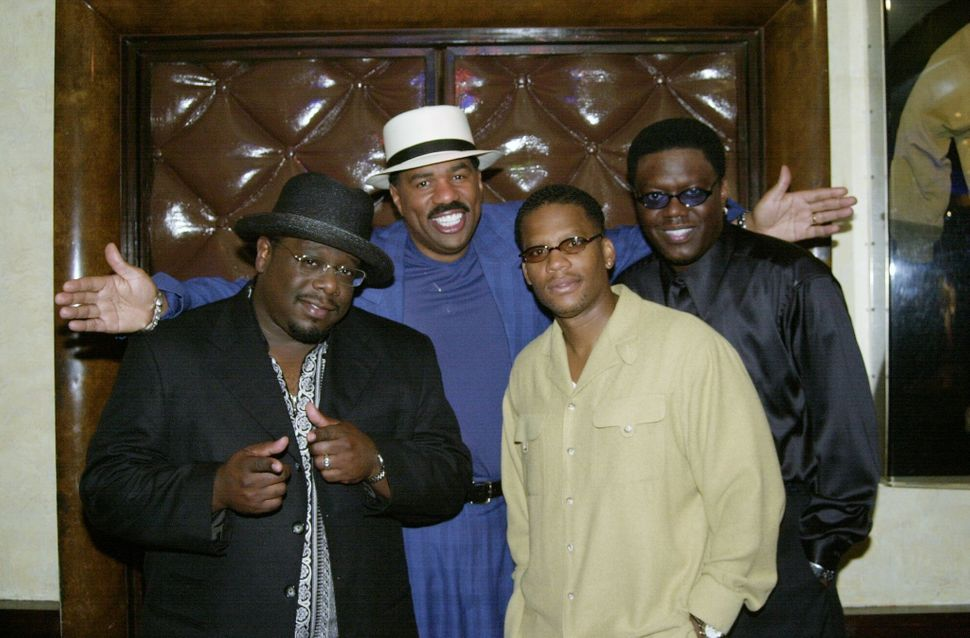 "Cedric the Entertainer, Steve Harvey, D.L. Hughley and Bernie Mac, stars of ""The Original Kings of Comedy,"" at Planet Hollywo"