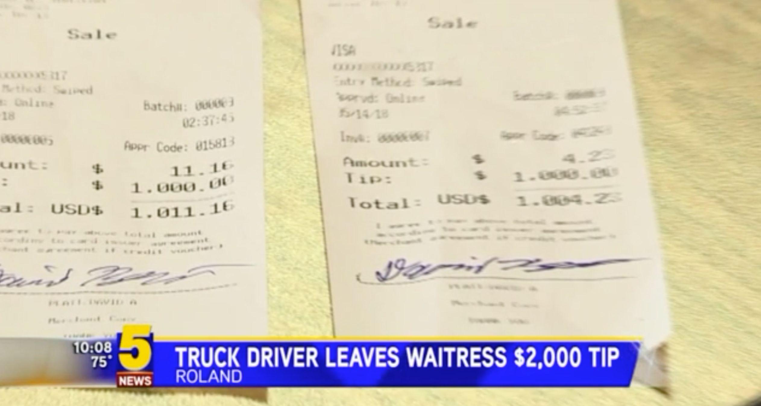 Lkw-Fahrer gibt Kellnerin 1000 Dollar Trinkgeld – doch das reicht dem Wohltäter noch nicht
