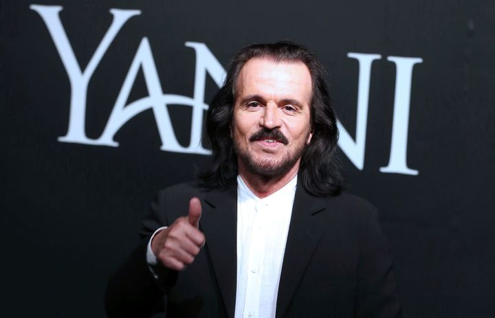 "This is the musician Yanni, with an ""i,"" not a ""y."""