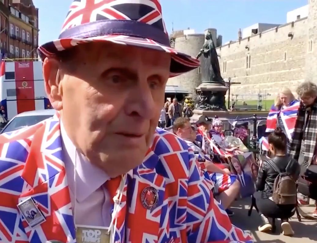 The suit is not typical royal wedding