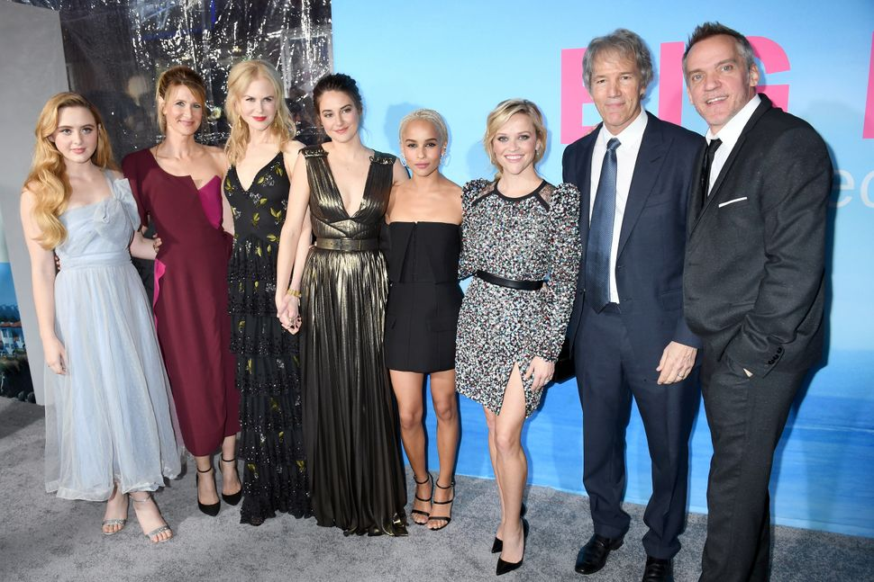 Kathryn Newton, Laura Dern, Nicole Kidman, Shailene Woodley, Zoe Kravitz, Reese Witherspoon, writer/Executive producer David