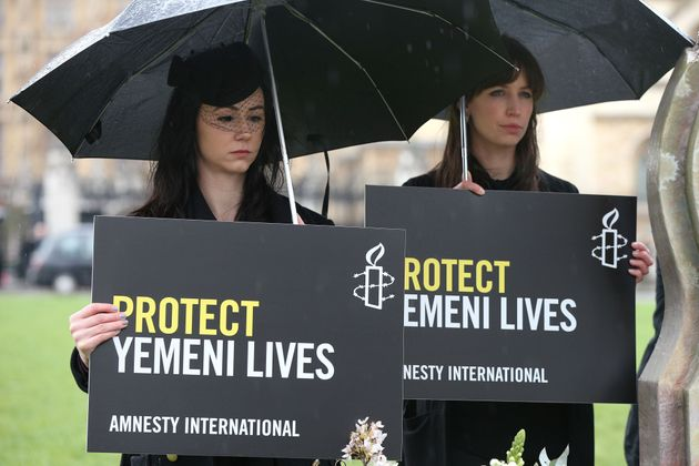 Amnestyprotest at thousands of civilians killed in Saudi-led