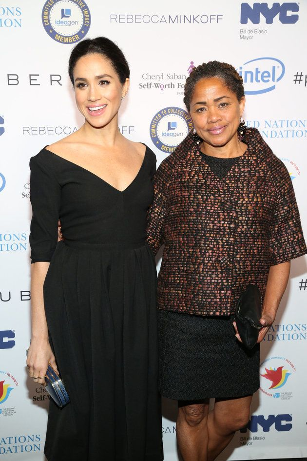 Meghan Markle with her mother Doria