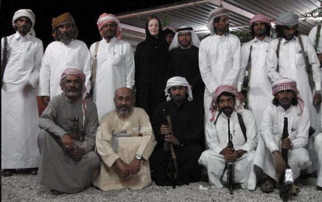 British academic and Yemen expert Dr Elisabeth Kendall with al-Mahra