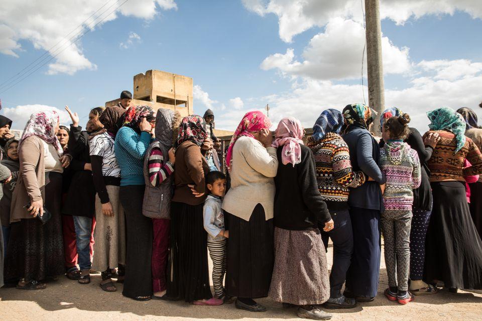 Flüchtlinge aus Afrin.