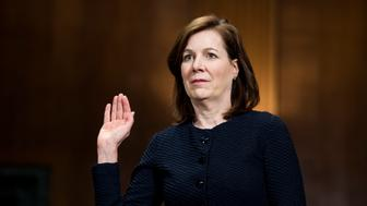 UNITED STATES - APRIL 11: Wendy Vitter, wife of former Sen. David Vitter, is sworn in during her confirmation hearing in the Senate Judiciary Committee to be United States District Judge for the Eastern District of Louisiana on Wednesday, April 11, 2018. (Photo By Bill Clark/CQ Roll Call)