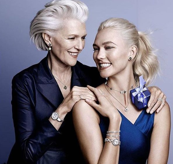 Swarovski produced one of the most diverse campaigns of Spring 2018, which starred 70-year-old Maye