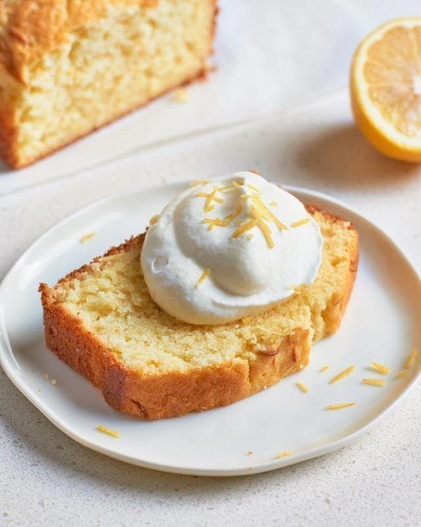 """<strong>Get the <a href=""""https://www.thekitchn.com/elderflower-lemon-cake-145330"""" target=""""_blank"""">Elderflower Lemon Cake</a>"""