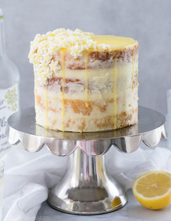 "<strong>Get the <a href=""http://followtheruels.com/2018/04/lemon-elderflower-cake/"" target=""_blank"">Lemon Elderflower Cake</a"