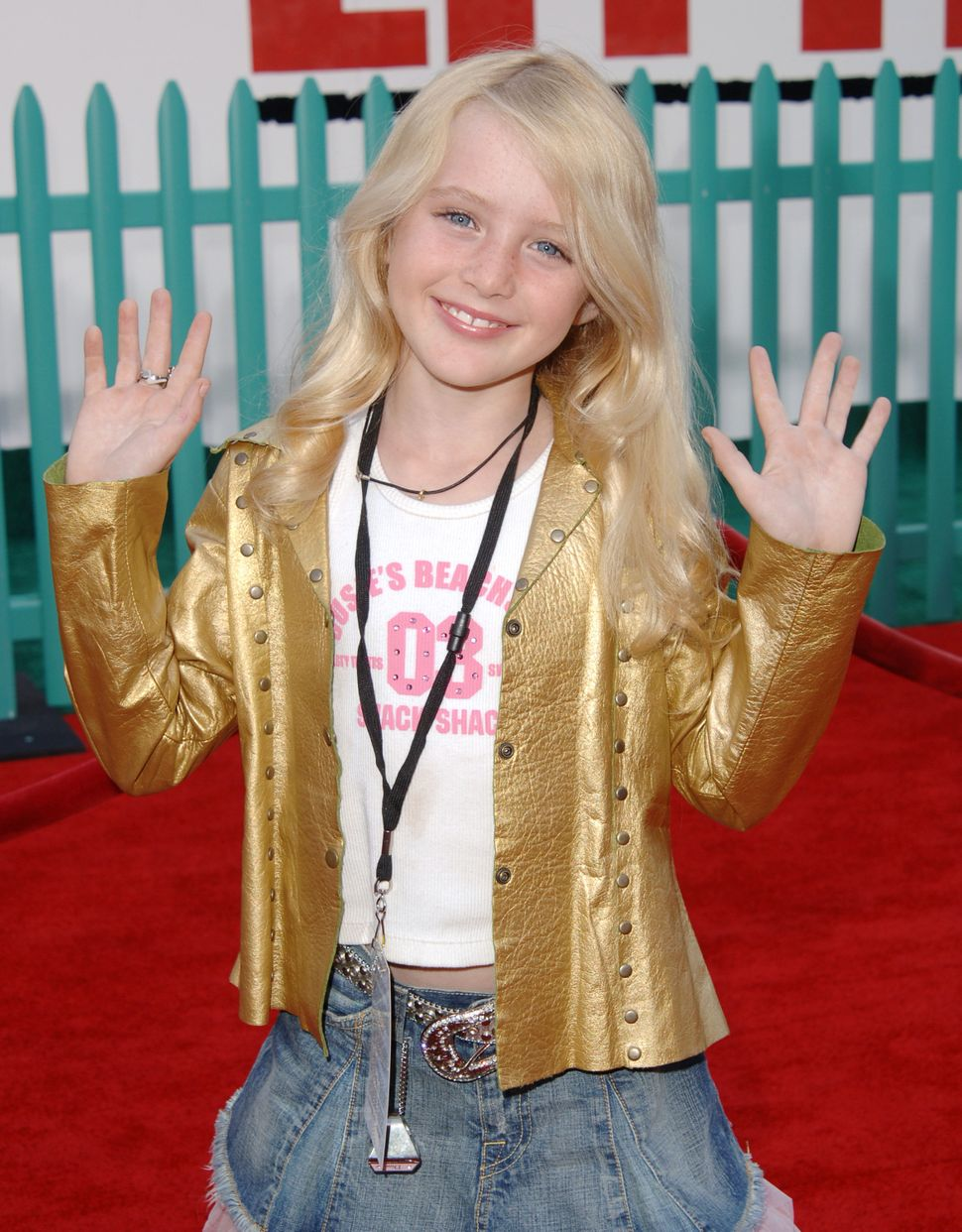 Kathryn Newton during 'Chicken Little' Los Angeles Premiere at El Capitan Theater in Hollywood, California, in 2005.